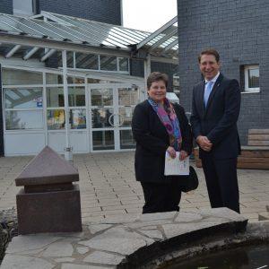 Bei einem Treffen im Neunkirchener Rathaus diskutierten Tanja Wagener (SPD-MdL) und Bürgermeister Bernhard Baumann aktuelle Themen.