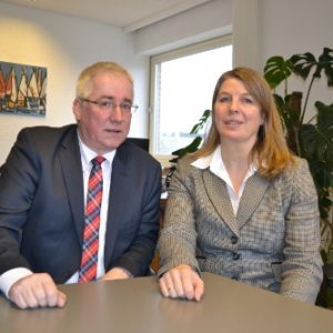 Falk Heinrichs (SPD-MdL) und Wilnsdorfs Bürgermeisterin Christa Schuppler führten ein Gespräch über aktuelle politische Themen.